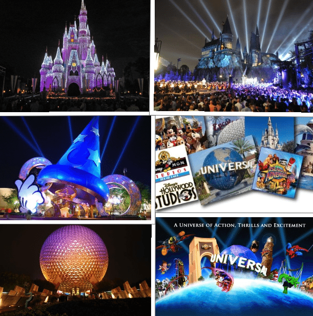 Theme Park Collage